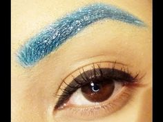 How to Glitter Eyebrows Makeup Tutorial How To Grow Eyebrows, How To Color Eyebrows, Perfect Eyebrows, Tweezing Eyebrows, Threading Eyebrows, Henna Designs, Beauty Tutorials, Beauty Hacks, Glitter Brows