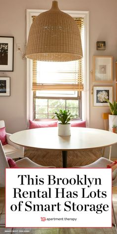 This Brooklyn rental apartment features cute ways to store things (both in AND out of sight).   House Tours by Apartment Therapy #housetours #hometours #brookyn #brooklynapartments #rental #storageideas #storagehacks #apartmentdecor
