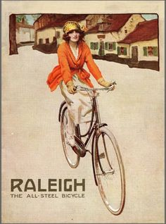 Raleigh bicycles poster 1922