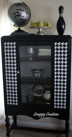 Houndstooth cabinet