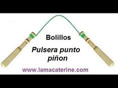 Bolillos: Pulsera hecha de punto piñon - 1ª Parte - YouTube