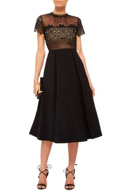 Felicia Embroidered Sheer Lace Dress by SELF PORTRAIT Now Available on Moda Operandi