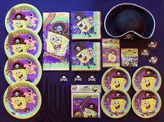 Spongebob Pirate Birthday Party Supplies.