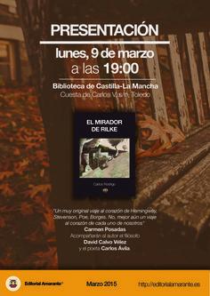 """Presentación """"El mirador de Rilke"""", de Carlos Rodrigo"""