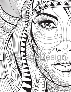 Coloring pages. Сoloring books for adults. Abstraction. PDF