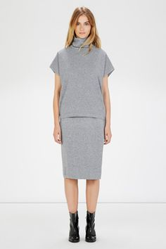 Jumpers & Cardigans | Grey SQUARE FUNNEL NECK TOP | Warehouse