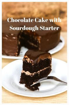 This decadent chocolate cake with sourdough starter is my new go-to chocolate cake. It's rich, moist and delicious and uses up some of that discard starter. Sourdough Starter Discard Recipe, Sourdough Recipes, Sourdough Chocolate Cake Recipe, Just Desserts, Delicious Desserts, Cake Recipes, Dessert Recipes, Sweet Recipes, Decadent Chocolate Cake