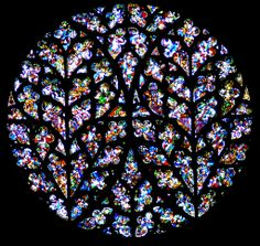 "Lincoln Cathedral ""Bishops Eye"" Window, Lincoln, England."