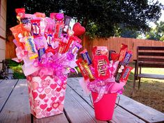 Candy bouquets instead of flowers for Valentine's Day!