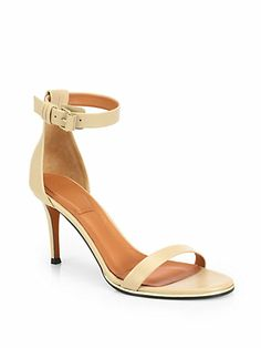 Givenchy - Leather Ankle-Strap Sandals - Saks.com
