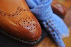 Shoe box of a pair of Sandrigham Edward Green's in Chestnut Antique Calfskin. #khakisofcarmel #edwardgreen