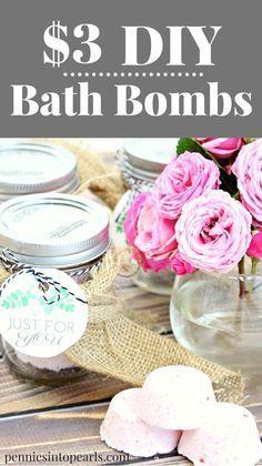 So easy! $3 DIY Bath Bombs. Create your own slice of heaven in the bathtub with these DIY bath bombs! Let me show you this crazy easy way how to make bath bombs at home. An entire batch of DIY bath bombs is going to cost you less than $3!
