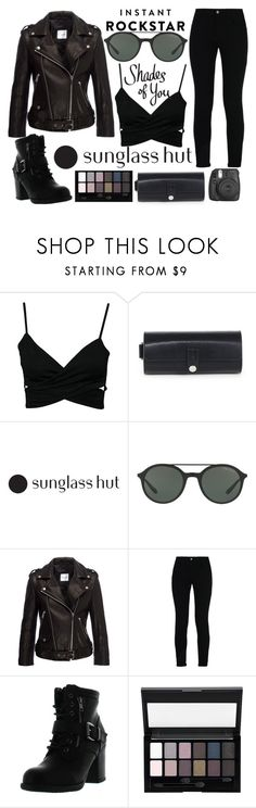 """Shades of You: Sunglass Hut Contest Entry"" by j-n-a ❤ liked on Polyvore featuring Alexander Wang, Giorgio Armani, Anine Bing, STELLA McCARTNEY, Betani, Maybelline, Fujifilm and shadesofyou"