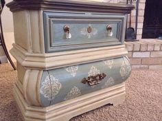bombe nightstands, bedroom ideas, painted furniture, painting wood furniture