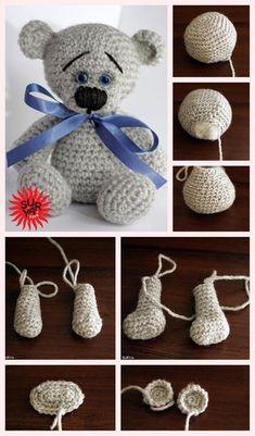 Mesmerizing Crochet an Amigurumi Rabbit Ideas. Lovely Crochet an Amigurumi Rabbit Ideas. Tutorial Amigurumi, Crochet Patterns Amigurumi, Amigurumi Doll, Crochet Dolls, Tutorial Crochet, Crochet Hats, Crochet Teddy Bear Pattern, Knitted Teddy Bear, Teddy Bears