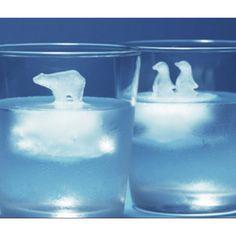 氷河の上の動物たちアイス氷の面白いアイディア