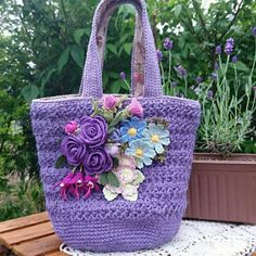 Crochet Tote, Crochet Handbags, Crochet Purses, Crochet Doilies, Crochet Flowers, Pony Bead Animals, Beaded Animals, Crochet Designs, Crochet Patterns