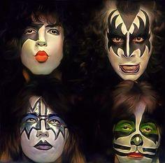 KISS goodbye ::(: by petnick on DeviantArt Paul Stanley, Rock Posters, Concert Posters, Eric Singer, Banda Kiss, Tinta Facial, Gene Simmons Kiss, Kiss Rock Bands, Hair Metal Bands