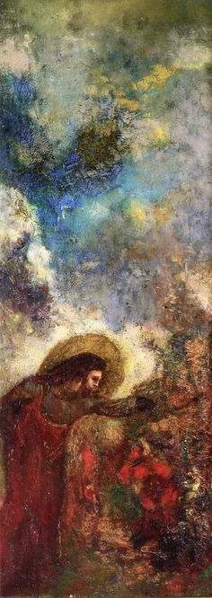 Odilon Redon ~ Christ at the Bush, 1900-02