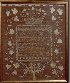emroidered sampler made by priscilla T. glover 1798 the met collection