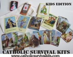 the coolest deck of Saint Prayer Cards I have seen! Classic images! Win a Catholic Survival Kit: GIVEAWAY!