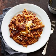 RAISED WAFFLES RECIPE A packet of yeast and an overnight rise is the secret to these waffles' success.