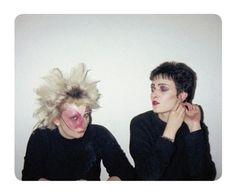 """""""rimbaudwasademonchild:  Jordan & Siouxsie Sioux, St James Hotel, ca 1977. Photo©Simon Barker. Simon Barker's """"Punk's Dead""""   """""""