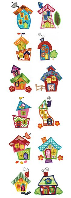 Embroidery | Applique Machine Embroidery Designs | Whimsical Cottages Applique