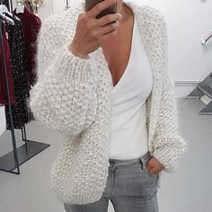 , , Always wanted to be able to knit, nevertheless unclear where do you start? This particular Total Beginner Knitting Str. Kiro By Kim, Cozy Sweaters, Sweaters For Women, Mode Outfits, Fashion Outfits, Knit Cardigan Pattern, Mohair Sweater, Knit Fashion, Slow Fashion
