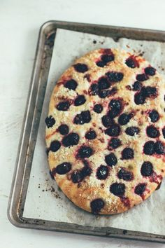 blackberry-basil focaccia bread | the vanilla bean blog