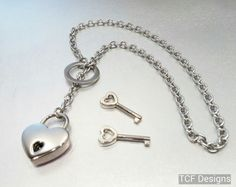 Lock And Key Necklace Love Police Wife Mother/'s Day Lariat Style Jewelry