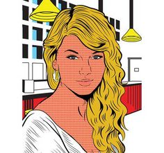 Pop art Taylor Swift Lichtenstein style