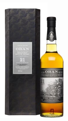 Oban Limited Edition Natural Cask Strength 21 Year Old Single Malt Scotch Whisky; Making it ideal for collectors, or anyone who is crazy about a good Scotch | spiritedgifts.com