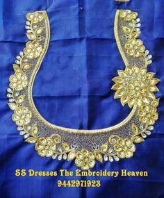 Best Blouse Designs, Wedding Saree Blouse Designs, Simple Blouse Designs, Blouse Neck Designs, Silver Pooja Items, Hand Work Blouse Design, Designer Blouse Patterns, Blouse Models, Hand Embroidery Designs