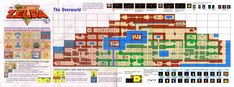 "El mapa de ""The Legend of Zelda"" NES"