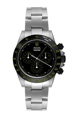 Light Grey Daytona Paul Neuman With Forest Green Detailing by Bamford Watch Department for Preorder on Moda Operandi