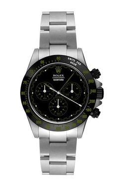 Light Grey Daytona Paul Neuman With Forest Green Detailing by Bamford Watch Department for Preorder on Moda Operandi