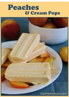 Peaches and Cream Pops - quick and easy, and can be made into either ice cream or pops. Great fresh peach flavor!!