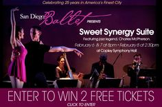 Win two tickets to San Diego Ballet's Sweet Synergy Suite featuring jazz legend, Charles McPherson.