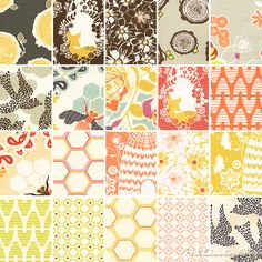 Buzz into Spring with this fun, floral fabric!  Sweet as Honey by Bonnie Christine for Art Gallery Fabrics