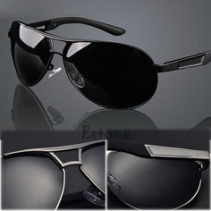 HOT Men Outdoor Sports Polarized Aviator Driving Eyewear Sunglasses Sun  Glasses  Unbranded Óculos De Sol a4a8bdb0e0