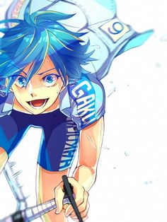 Yowamushi Pedal, Sangaku Manami, Bicycle, Sweatdrop, Light Background