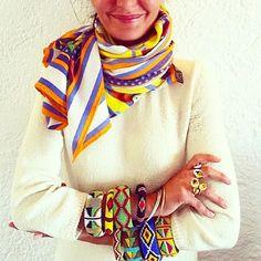 A kaleidoscope of color worn by Giovanna Englebert. : @bat_gio #batgio #giovannabattaglia #giovannaengelbert
