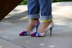 """""""Splattered"""" shoes"""