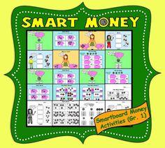 Smart Money, Interactive Smartboard Money Activities for Gr. 1 from Teaching… Smart Board Activities, Money Activities, Learning Resources, Kids Learning, Activities For Kids, Creative Teaching, Teaching Math, Teaching Ideas, Teacher Hacks