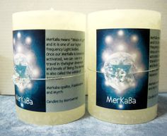 "MerKaBa means ""Vehicle of Light"" and is one of our Higher Frequency Light Bodies. This MerKaBa White Pillar Candle is made with Pure Frankincense and Myrrh Essential Oils, comes with a Merkaba quartz bead tied to the candle!"
