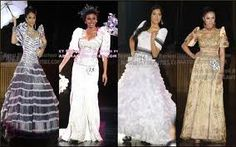 Filipiniana Dress, Maria Clara, Miss World, Prom Dresses, Formal Dresses, Beauty Pageant, Mother Of The Bride, Gowns, Clothes
