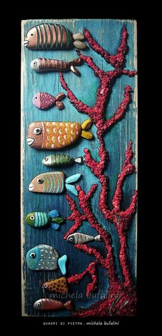 43 Ideas for painting rocks fish pebble art Pebble Painting, Pebble Art, Stone Painting, Rock Painting, Stone Crafts, Rock Crafts, Arts And Crafts, Pebble Stone, Stone Art