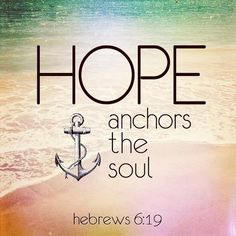 """""""This hope is a strong and trustworthy anchor for our souls. It leads us through the curtain into God's inner sanctuary...Read More at http://ibibleverses.christianpost.com/?p=15747  #devotional #hope"""