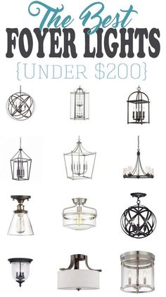 the Perfect Entryway Light Fixture 15 of the best entryway lighting fixtures for a small budget. These foyer lights and chandeliers are of the best entryway lighting fixtures for a small budget. These foyer lights and chandeliers are showstoppers Entryway Light Fixtures, Entry Foyer, Bedroom Lighting, Foyer Decorating, Modern Foyer, Farmhouse Foyer, Farmhouse Light Fixtures, Hallway Light Fixtures, Entryway Chandelier